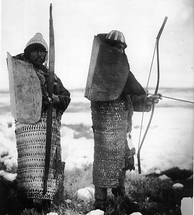 Koryaks modeling traditional iron armor.